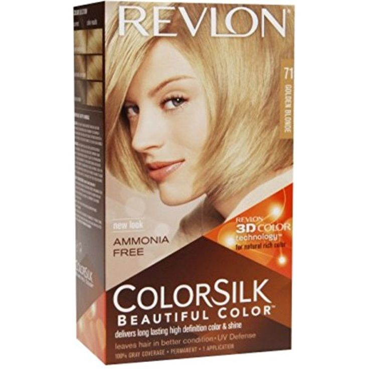 Revlon ColorSilk Hair Color, 71 Golden Blonde 1 ea (Pack of 5) >>> Read more  at the image link. (This is an affiliate link and I receive a commission for the sales)