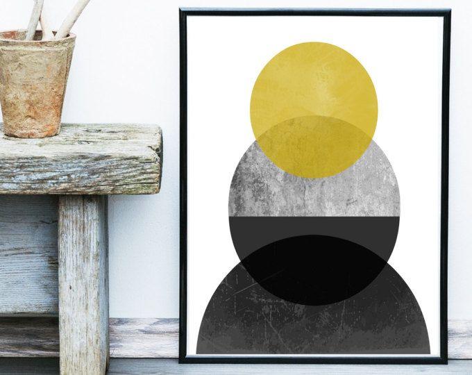 Stampa di arte minimalista, arte scandinava, stampa geometrica, astratta, stampa, stampa geometrica, giclée, arte della parete, decorazione della parete, Home Decor
