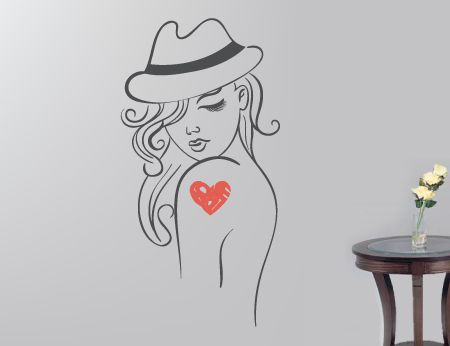 Girl with a love tattoo