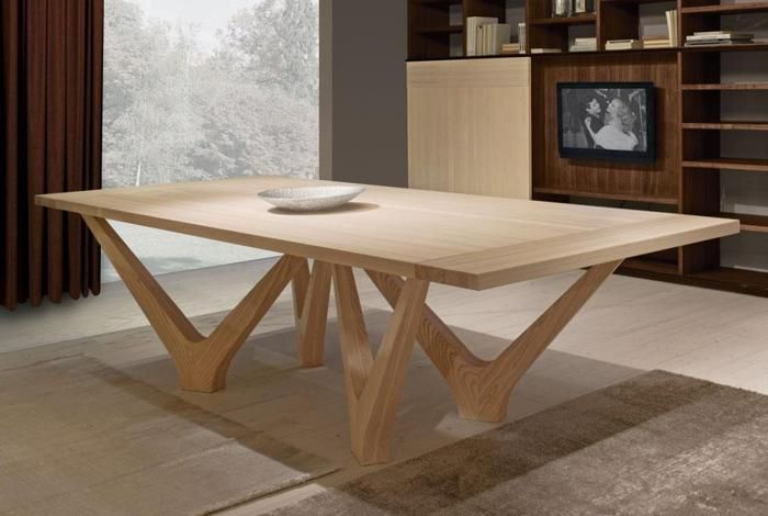 Best modern solid wood table design by Aldo Cibic