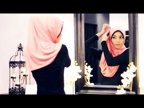7 Modern Hijab Style Tutorials For Round Faces - YouTube