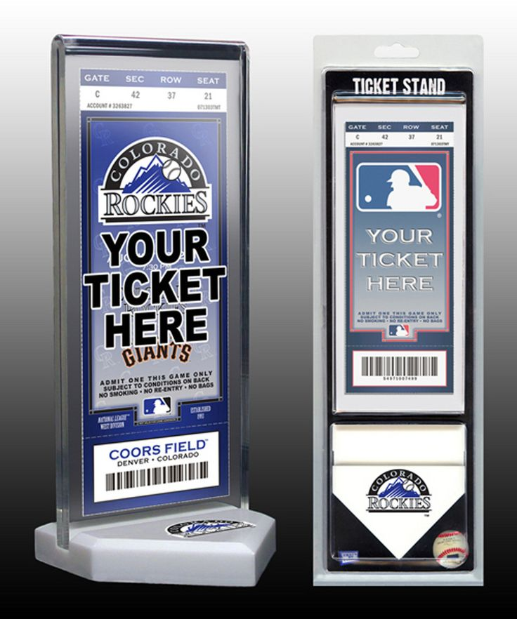 Thats My Ticket Colorado Rockies Ticket Stand