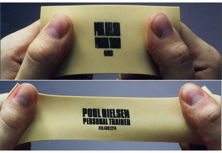 This is a very clever personal trainer business card.