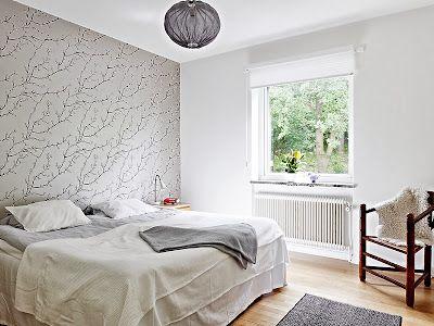 Tekton Concept - Design: Papel pintado en el dormitorio principal