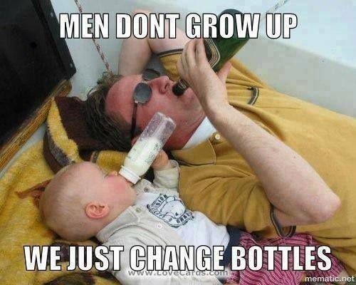 Men dont grow up