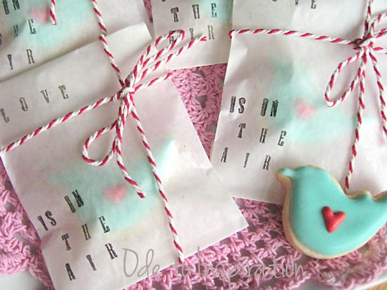 Love Is In The Air - Bird Cookies and bags