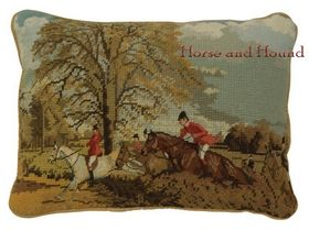 Over the Hedge Needlepoint Pillow $82.00