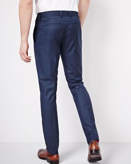 Pantalon Coupe Étroite Fini Lustré Encre Bleu - Régulier