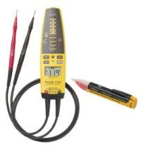 Fluke T+PRO-1AC Electrical Tester and AC Voltage Detector Kit // Description Information:Fluke T+Pro1AC Digital Electrical Tester Meter and NonContact AC Voltage Detector Combo Kit combines two troubleshooting tools, in one convenient combo pack. The T+PRO Electrical Tester has all of the advantages of a traditional solenoid tester, with added functionality, but none of the typical drawbacks. Wit// read more >>> http://Durant339.iigogogo.tk/detail3.php?a=B0012WZZFU