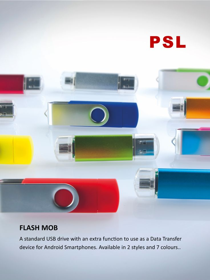 FLASHMOB usb drive with Micro USB adapter. Use as a Sync cable for your Android and other devices. www.pslworld.com