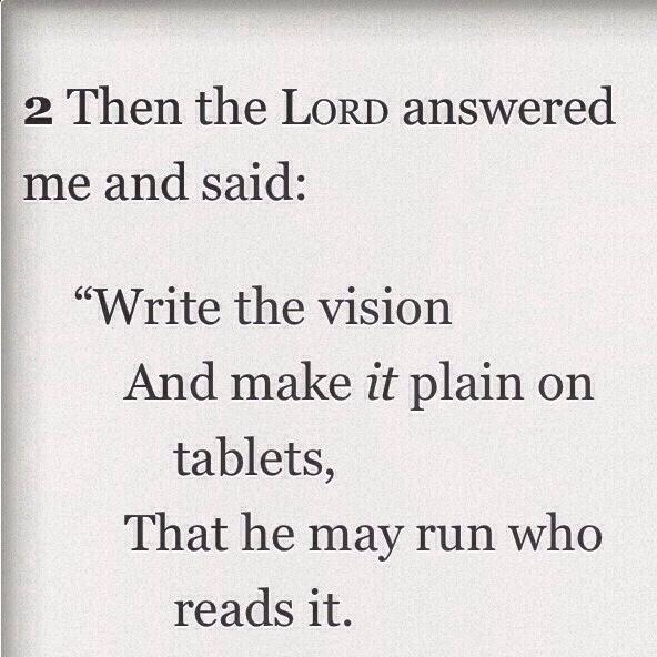 habakkuk write a vision