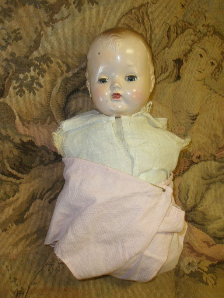 Creepy Vintage Armless, Legless Baby Doll ~ Sleep Eyes ...