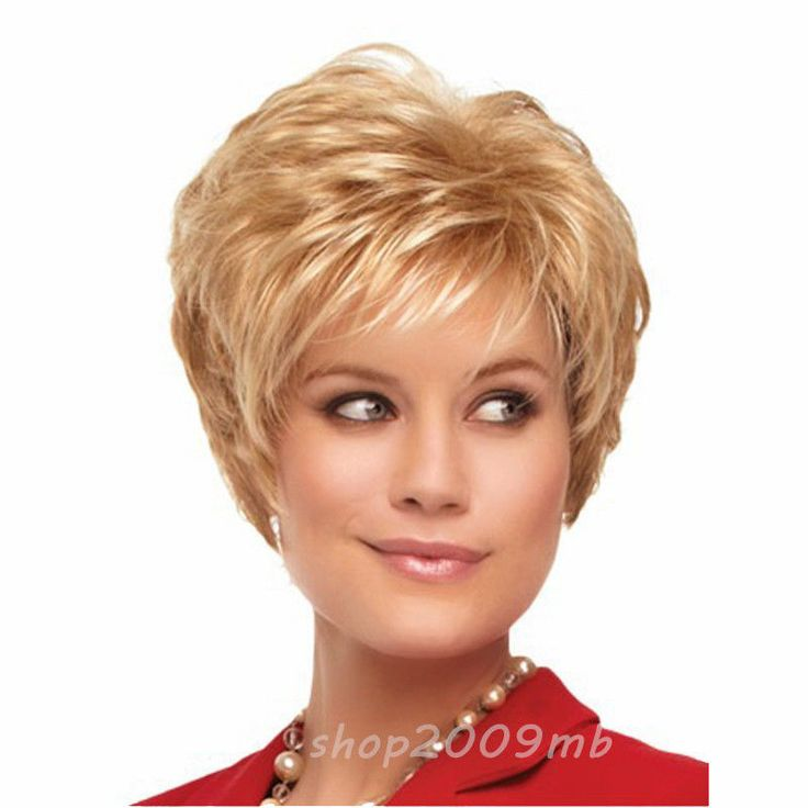 New Fashion Short Bangs Straight Hairstyle Synthetic Hair Wigs For Women  #Unbranded