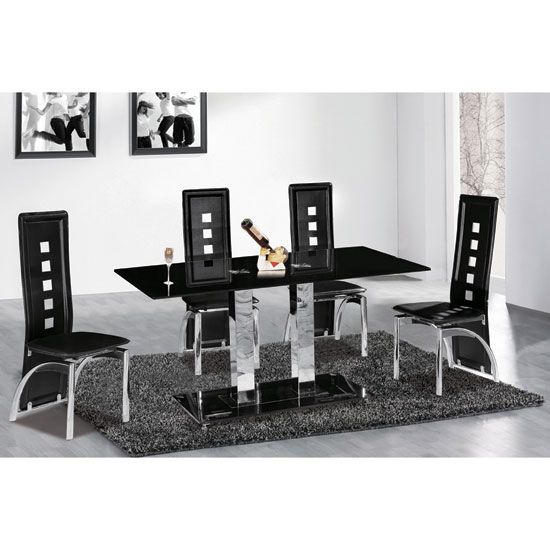 25 best ideas about black glass dining table on pinterest furniture dining room contemporary oval table for modern