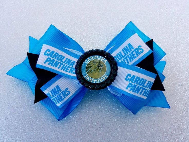 Carolina Panthers NFL Football Hair Bow by Tutus4Tails on Etsy