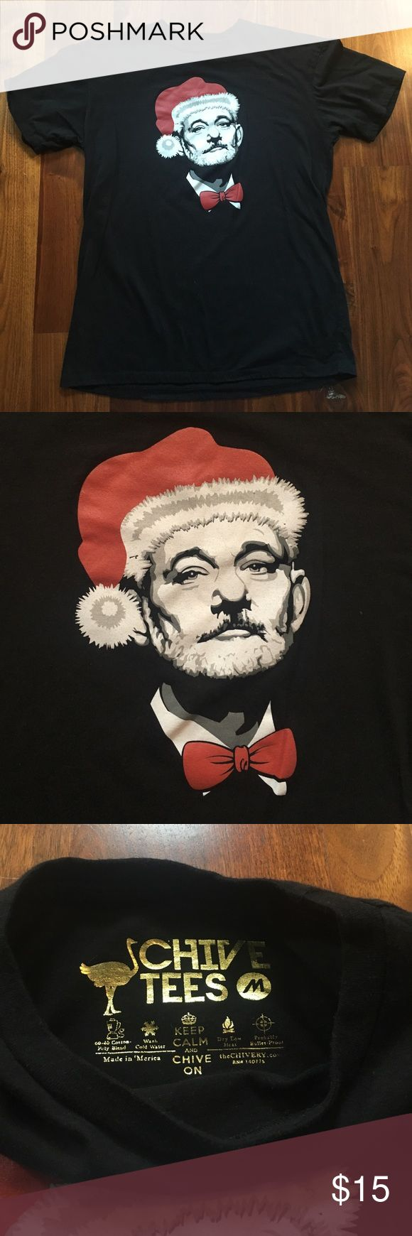 Men's The Chive Santa BFM Shirt Medium Men's The Chive Santa BFM Shirt Medium. Great for the holidays! EUC. From a non-smoking and pet-free home. The Chive Shirts Tees - Short Sleeve
