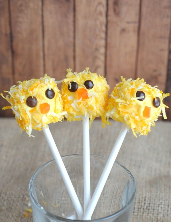 Adorable!! Cute Easter Chick Pops