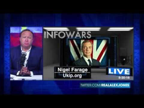 BREAKING : Nigel Farage Interviewed By Alex Jones - 2016 Interview - WOW