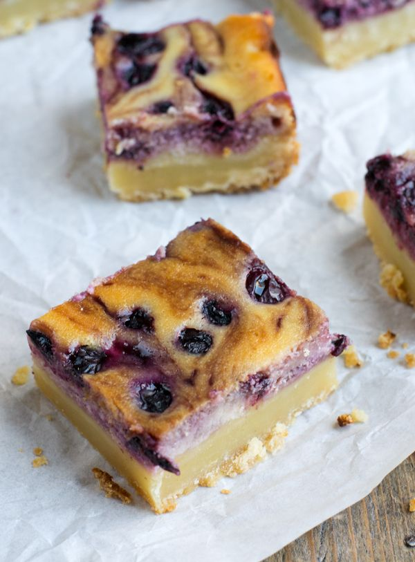 Zonnig bakrecept: Blueberry Cheesecake Bars | Via BrendaKookt