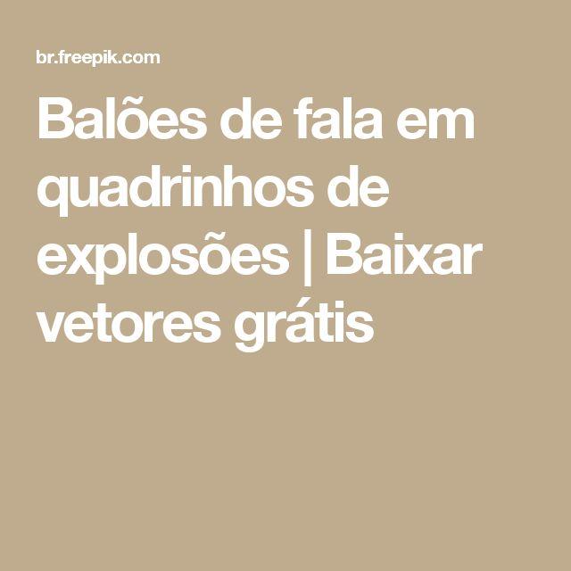 Balões de fala em quadrinhos de explosões  | Baixar vetores grátis