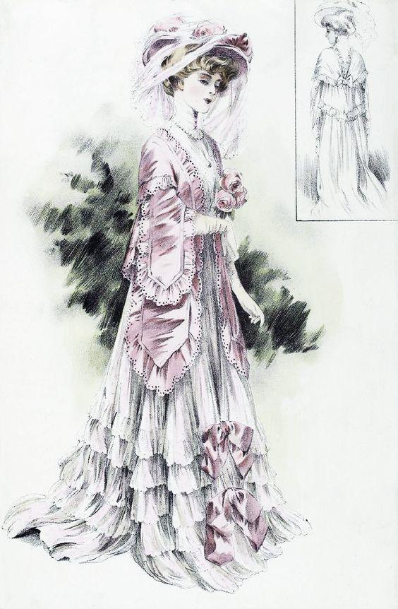 Женская мода эпохи Модерна на иллюстрациях. Начало ХХ в.