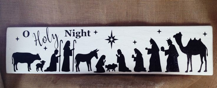 Nativity Wood Sign - Oh Holy Night Sign - The Nativity -Christmas Sign - Away in a Manger Sign - Mary And BabyJesus by TallahatchieDesigns on Etsy https://www.etsy.com/listing/477354620/nativity-wood-sign-oh-holy-night-sign