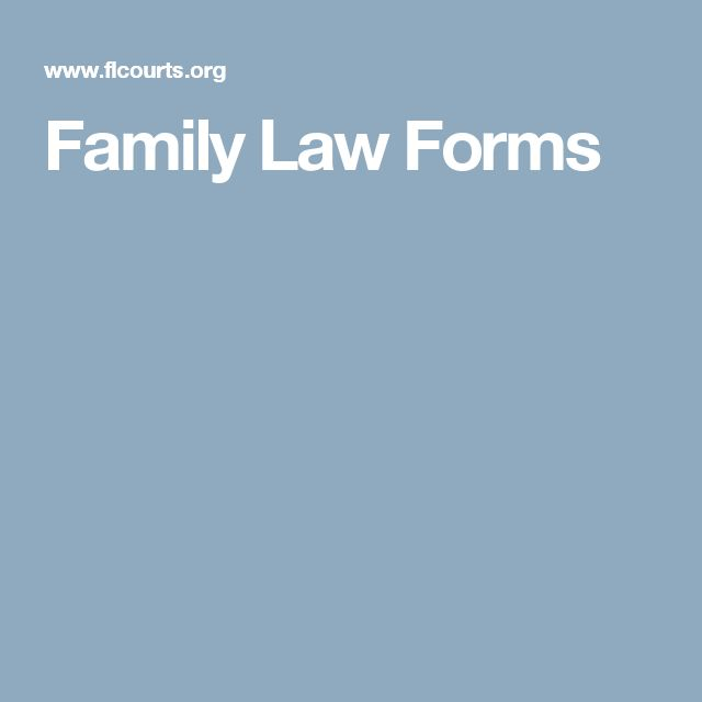 Family Law Forms
