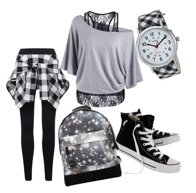 """#casualdanceoutfit"" by sanikova on Polyvore featuring Converse, Mi-Pac and Timex"