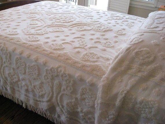 I have a thing for chenille bedspreads. Yes I'm a granny.