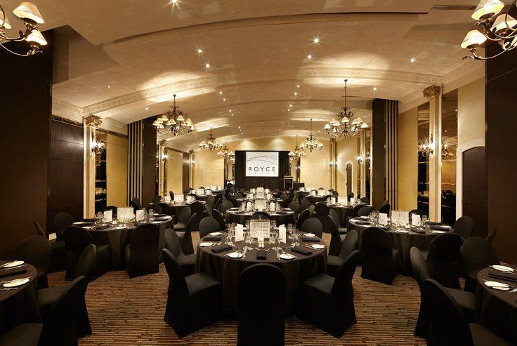 Royce Grand Ballroom Dinner - Black Theme - Royce Hotel Melbourne Conference Venue - Melbourne Wedding Venue