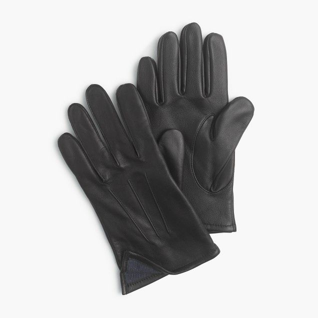 J.Crew Cashmere-Lined Leather Smartphone Gloves ($98.00)