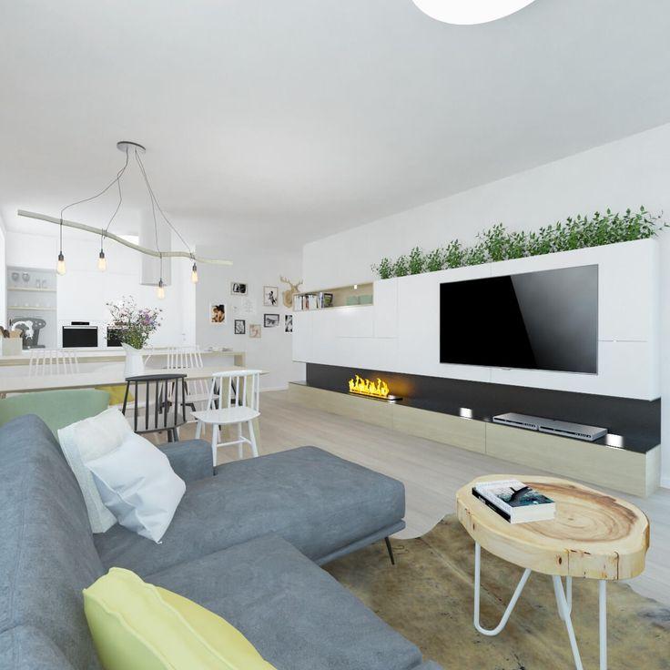 Obývačka v jemných tónoch