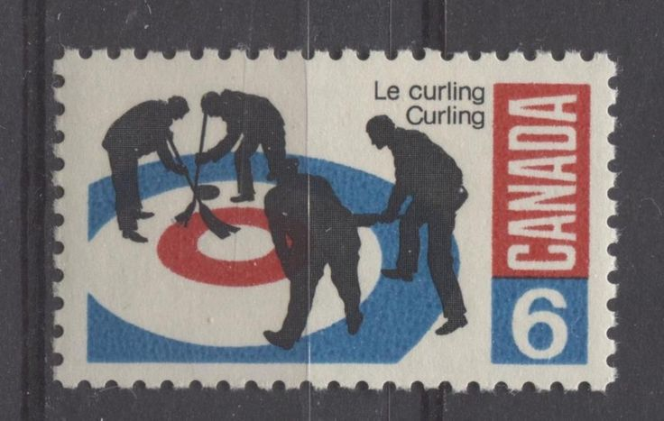 Curlers as shown on this 1969 stamp issue.