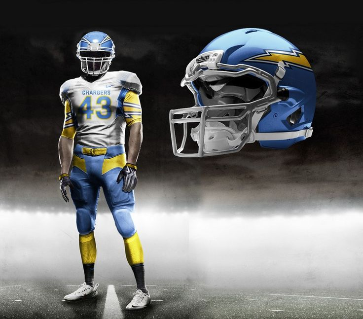 San Diego Chargers Concept Helmets San Diego Chargers