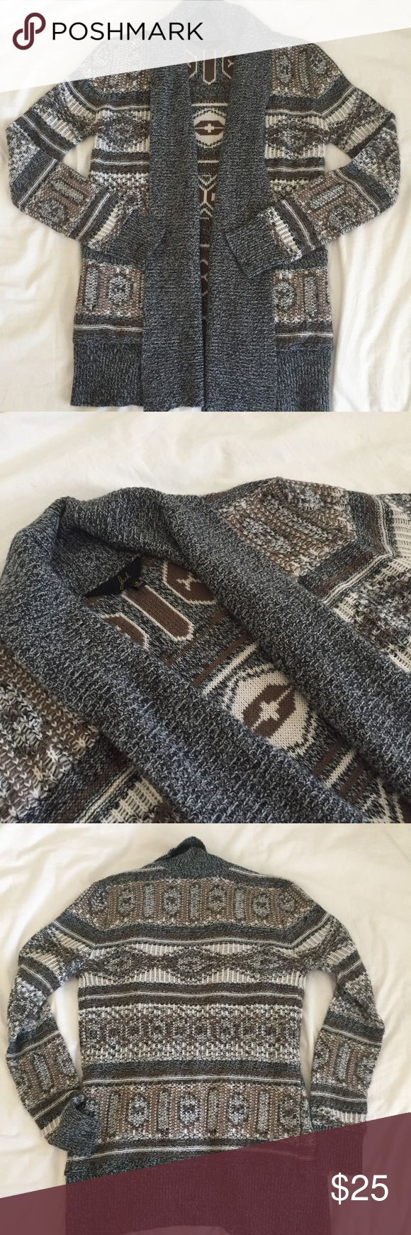 Jack open cardigan tribal geometric print GUC. No flaws noted. Size S . Lightweight open cardigan . Perfect for cool spring nights. Jack by BB Dakota Sweaters Cardigans