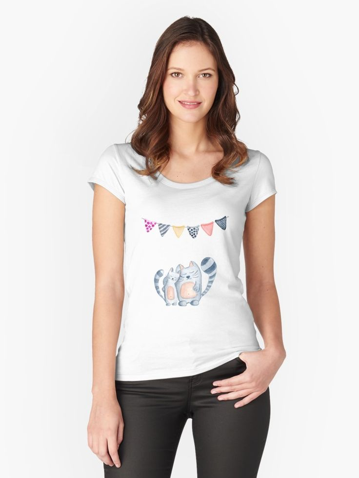Women's Fitted Scoop T-Shirt #cat #cats