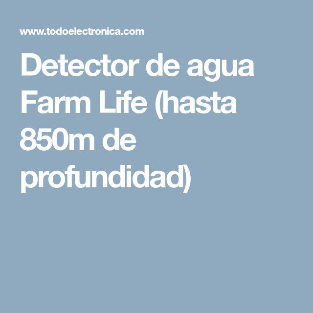 Detector de agua Farm Life (hasta 850m de profundidad)