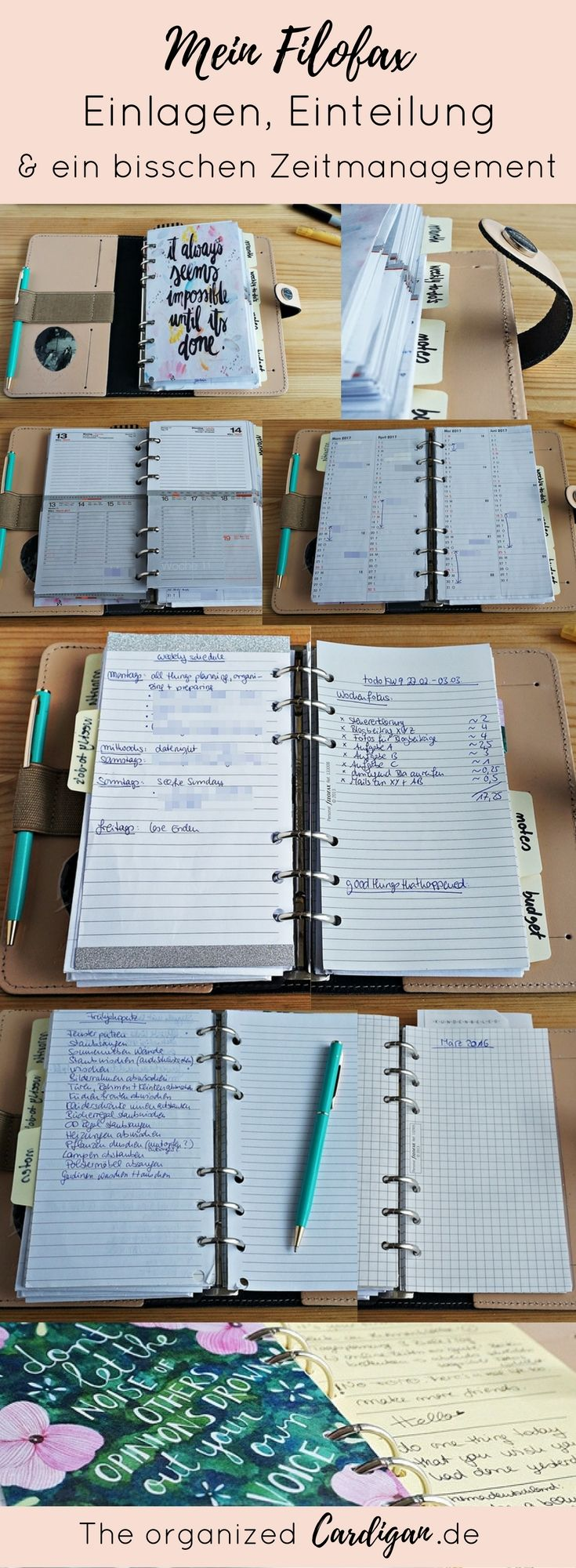 My Filofax – Deposits, Classification & a bit of Time Management