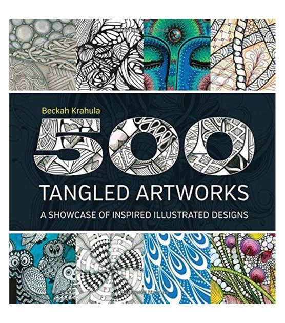 Get some inspiration from a vast collection of drawing tiles known as tangles with the 500 Tangled Artworks. Featuring a wide collection of exciting, experimental and beautiful drawings, this book con