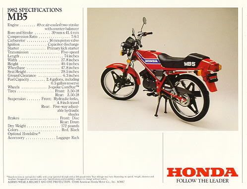 """One of my first motorcycle loves: the """"mighty"""" Honda MB5"""