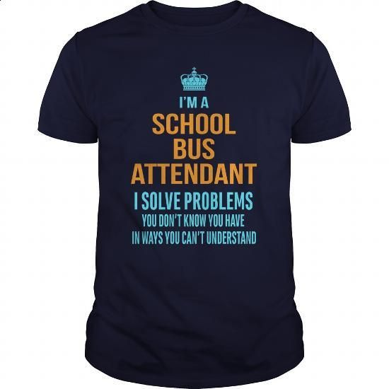 School Bus Attendant - #graphic hoodies #wholesale hoodies. ORDER HERE => https://www.sunfrog.com/LifeStyle/School-Bus-Attendant-Navy-Blue-Guys.html?60505