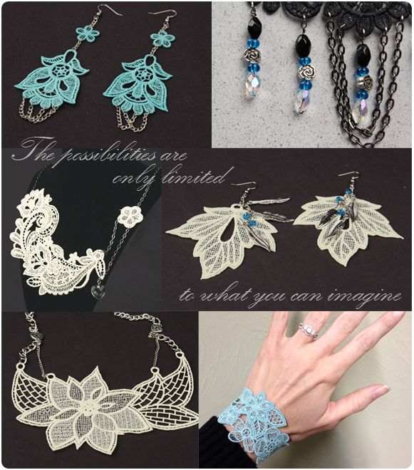 1000+ Images About Machine Embroidery Jewelry On Pinterest | Lace Lace Making And Lace Jewelry
