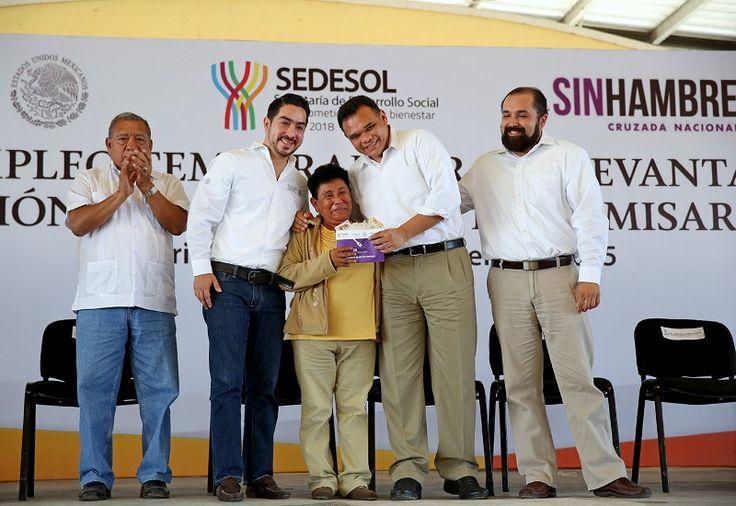 Anuncia el Gobernador entrega de aves de traspatio en comisarías de Mérida