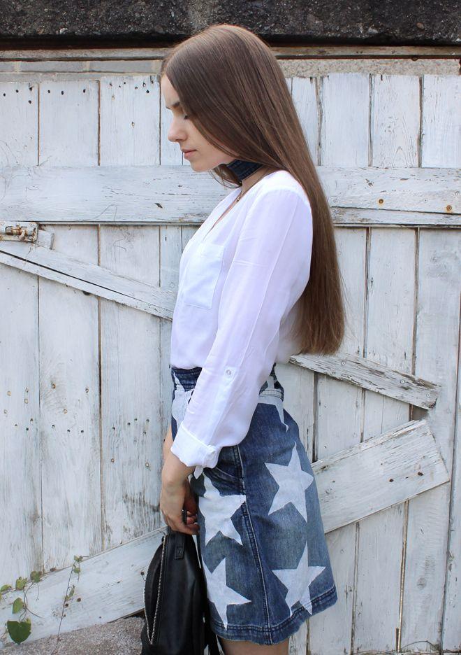 DIY Star Print Skirt