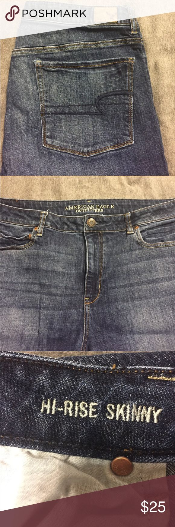 American Eagle skinny jeans High rise skinny jean regular length American Eagle Outfitters Jeans Skinny