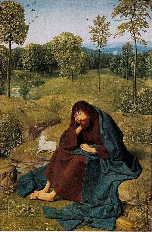 Geertgen tot Sint Jans (1460/1465 – до 1495) Иоанн Креститель в пустыне  1490-1495  Картинная галерея, Берлин