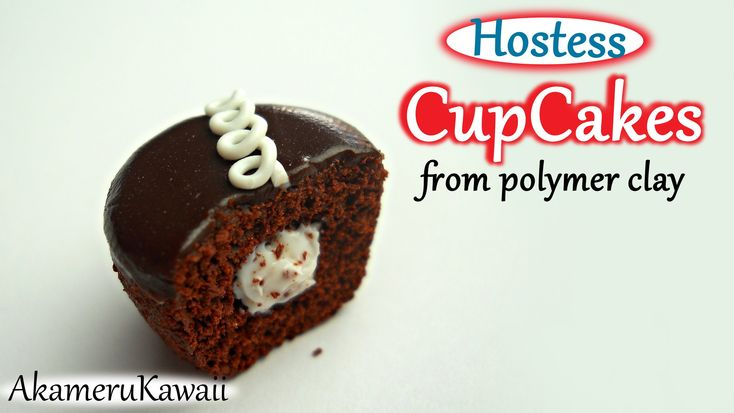 Hostess Cupcake - Polymer Clay Tutorial
