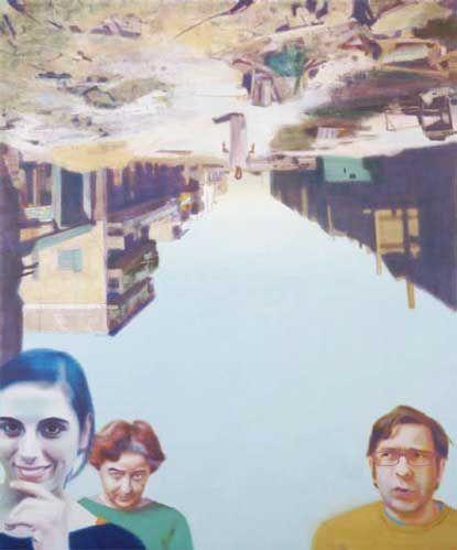 Birkás Ákos The Street 2005, olaj vászon 160x130 cm • Fotó Bakos Ágnes - Tihanyi Bence