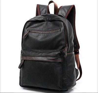 Men's Vintage Leather Backpack Rucksack Bag Laptop Casual Travel School Bag