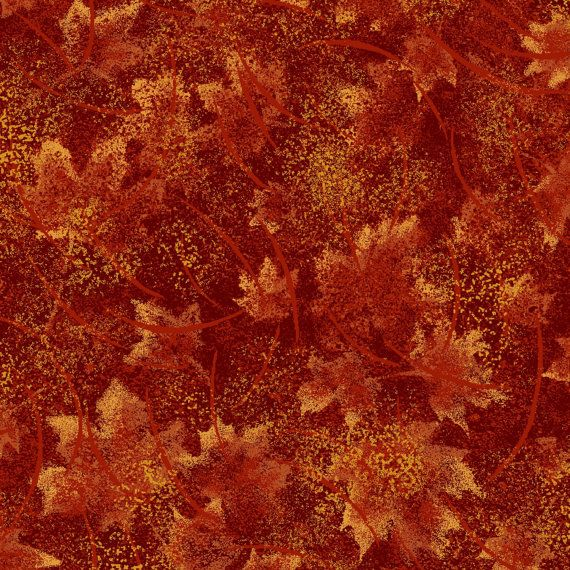 Burnt Tonal Leaves Fabric Yardage Metallic. Fall Quilt Fabric. Holiday Fabric. Fall Leaves Fabric. Rustic Leaves Fabric. Maple Leaf Fabric. Maple leaves in shades of rust and brick red are aflame with metallic accents in this beautiful fall tone on tone fabric. A perfect blender fabric and the colors go with so many other fall fabric collections. A beautiful addition to quilts, fashion and accessories, craft projects and light fall decor projects.  Listing picture is a 4 inch square of the…